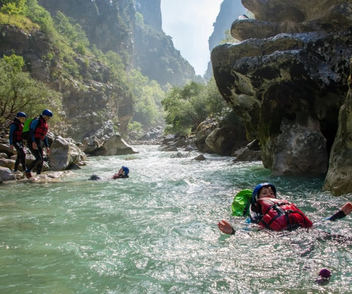 Swimming in largest Europe canyon