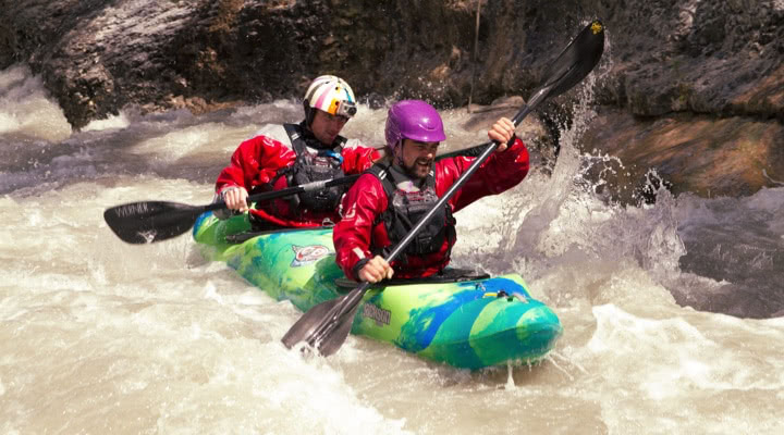 tandem kayak in Verdon gorge
